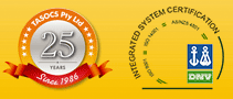 Tasocs: 25th Anniversary | DNV Accredited: ISO14001- Environmental | Management System ISO 9001:2008